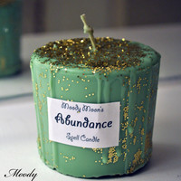 Abundance Spell Candle For Prosperity, Wicca, Spells, Magick