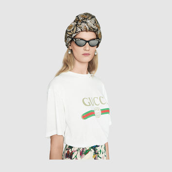 Gucci - Gucci print cotton t-shirt