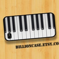 Piano Keyboard Key Case - iPhone 4 Case iPhone 4s Case iPhone 5 Case idea case Galaxy Case Hard Plastic Case Rubber Case