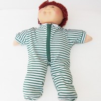 Cabbage Patch KIDS 16 inch Doll Clothes Pajamas 'Liam in Green and Grey Stripes' handmade …