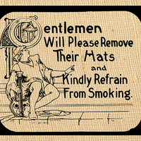 Movie Theater Vintage No Smoking Sign Digital Download Fun Home Decor Instant Image Transfer Printable