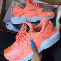 """NIKE""AIR Huarache Running Sport Casual Shoes Sneakers orange H-AA-SDDSL-KHZHXMKH"