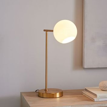 Staggered Glass Table Lamp + USB