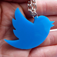 Twitter Necklace / Pendant