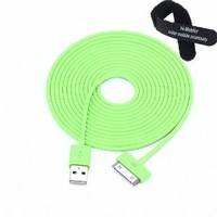 Amazon.com: Colorful 30pin USB Data Sync and Charge Cable Compatible with Iphone 4/4s, Iphone 3g/3gs, Ipod (Green,10ft Long): Cell Phones & Accessories