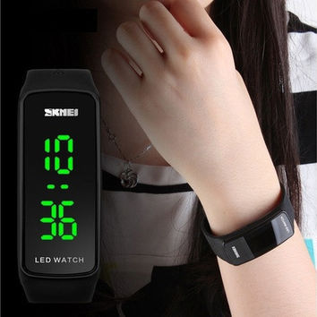 Men Womens Sport Bracelet LED Touch Screen Digital Wrist Watch Brand SZVOT [8833616332]