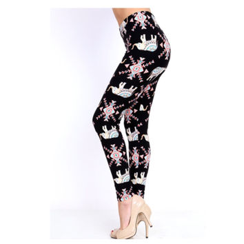 """A Touch of Heaven""  Vibrant Boho Elephant Print Leggings"