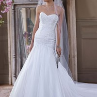Sweetheart Trumpet Beaded Applique Gown - David's Bridal