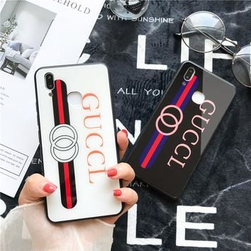 Apple 8plus mobile phone shell iPhoneX8 package 6 glass shell cover gucci7 fashionista models
