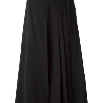 Christophe Lemaire Belted Pleated Skirt