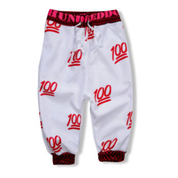Red Hundred Dollar Jogger Shorts