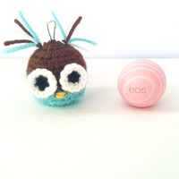 EOS Holder/EOS Lip Balm Cozy/EOS/Owls/Sephora Lip Balm Holder - with Clip