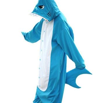 DCCKH6B Unisex Adult Kids Children Kugurumi Animal Pajamas Pyjamas Costume Halloween Party Cosplay Homewear Lounge Wear Shark