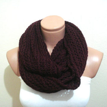 Infinity maroon burgundy circle Scarf, Neckwarmer, cowl, Gift for men woman, Christmas gifts, Fashion super soft scarf
