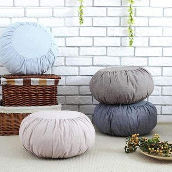 Japanese Style Cotton Zafu Meditation Cushion, 18in