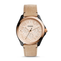 Cecile Multifunction Sand Leather Watch