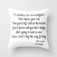 Lea Michele-What Is Love Throw Pillow by Jessie Bouyea