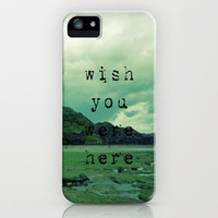 Wish You Were Here iPhone Case by Ally Coxon | Society6
