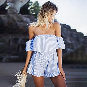 Sexy Short-Sleeved Jumpsuit