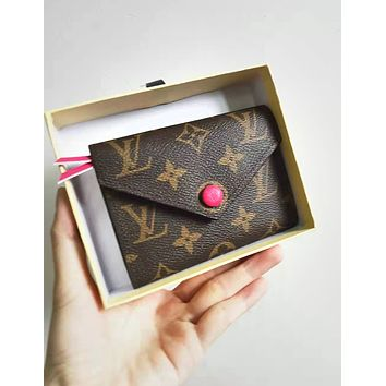 LV Louis Vuitton Fashion High Quality PU Leather Small Coin Purse Wallet