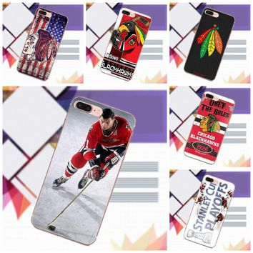 Soft Phone Cases For Sony Xperia Z Z1 Z2 Z3 Z4 Z5 compact Mini Premium M2 M4 M5 T3 E3 E5 XA Nhl Ice Hockey Chicago Blackhawks