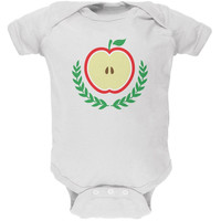 Baby Shower Theme Apple of My Eye White Soft Baby One Piece