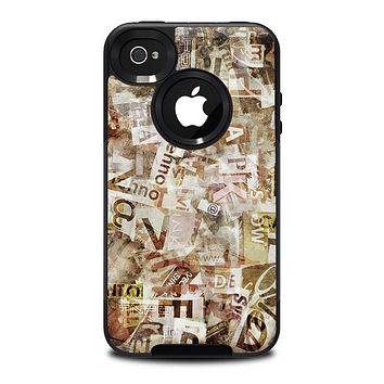 The Vintage Torn Newspaper Collage Skin for the iPhone 4-4s OtterBox Commuter Case