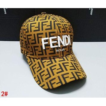 FENDI New Fashionable Women Men More Letter Casual Embroidery Sports Sun Hat Baseball Cap Hat