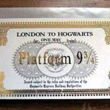 Harry Potter Hogwarts Express Train Ticket by writtenbysanta
