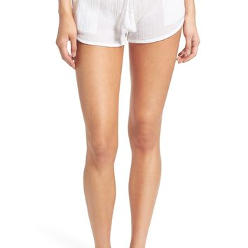 Rip Curl 'Love & Surf' Cotton Crepe Shorts | Nordstrom