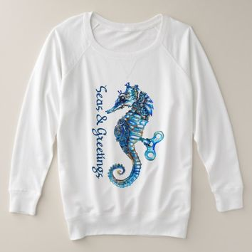 "Coastal Seahorse ""Seas & Greetings Woman's TShirt"