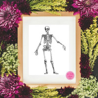 Anatomical Print Art Hand Prints Medical Artwork Doctor Office Decor Human Anatomy Minimalist Home Office Poster B&W Decor Modern Home Decor