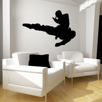 Vinyl Wall Decal Sticker Martial Arts Kick #OS_MB676