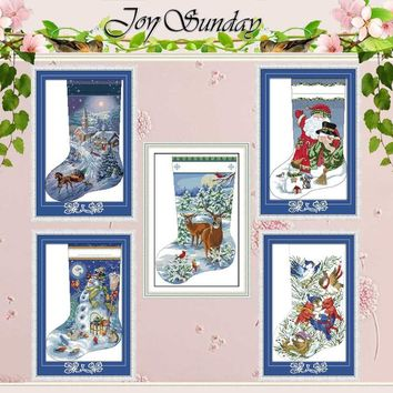 Cross Stitch kit Christmas stocking Patterns Counted Cross Stitch 11CT 14CT