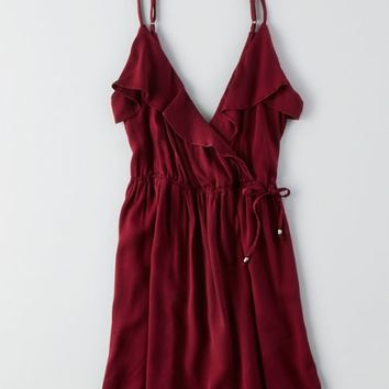 AEO Women's Ruffled Fit And Flare Dress
