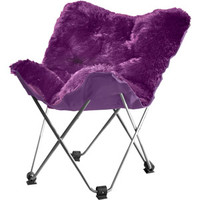 Walmart: your zone lux shag butterfly chair, Multiple Colors