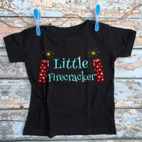 4th of July Shirt - Boys Fourth of July Shirt / Toddler Patriotic Outfit / First July 4th Shirt / Little Firecracker Clothes / Kids Tshirt