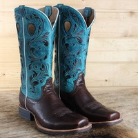 Twisted X Ladies' Turquoise Roughstock Boots