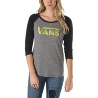 Vans Authentic Logo Raglan Tee (Grey Heather/Black)