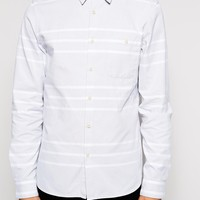 ASOS Shirt In Long Sleeve With Oxford Stripe at asos.com