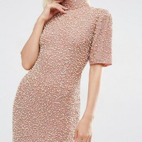 ASOS Premium Pearl Scatter Mini Body-Conscious Dress at asos.com