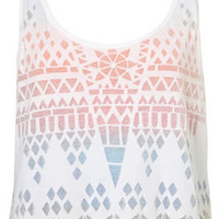 Double Layer Geo Burnout Vest - Spring Equinox  - Designers  Collections  - Topshop USA