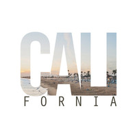 CALI FORNIA (White) Art Print by Thecrazythewzrd