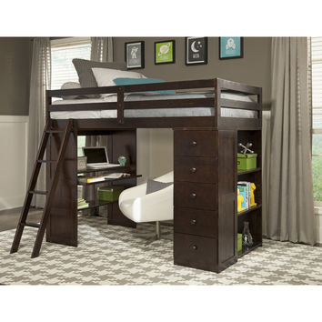 Canwood Furniture Skyway Twin Loft Bed with Storage