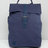 Mi-Pac Canvas Fold Top Backpack in Navy at asos.com