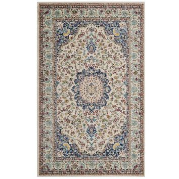 Meryam Distressed Persian Medallion 8x10 Area Rug - R-1147A-810