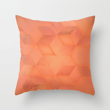 PEACH Throw Pillow by DuckyB (Brandi)