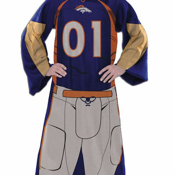 Denver Broncos Blanket Comfy Throw Player Design