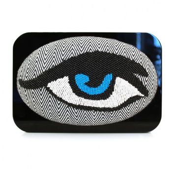 Shop - Framed monochrome eye clutch | made by Sarah's Bag selected by Valery Demure |