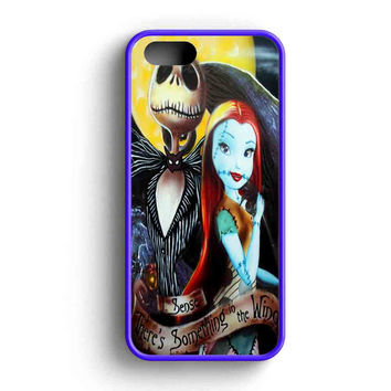 Jack And Sally There'S Something In The Wind  iPhone 5 Case iPhone 5s Case iPhone 5c Case